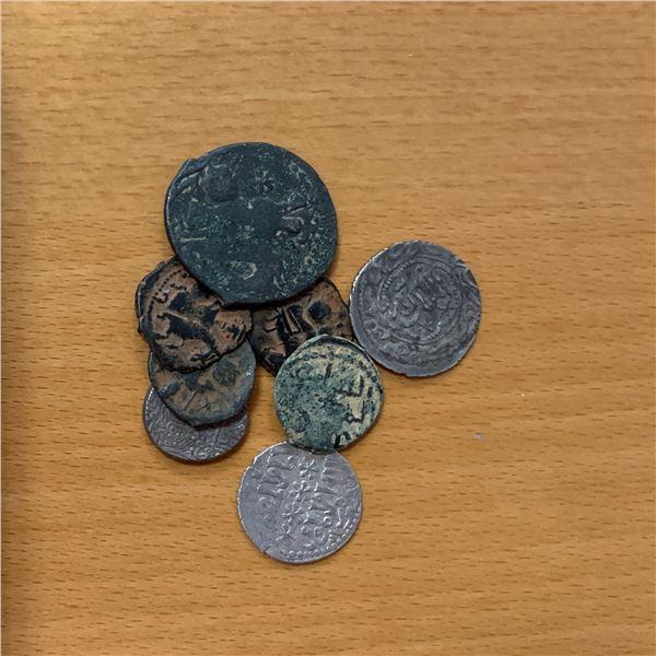 SELJUQ OF RUM: LOT of 8 coins (7 Seljuq of Rum and 1 Aq Qoyunlu)