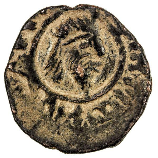 DANISHMENDID: Dhu'l-Qarnayn, 1152-1162, AE dirham (6.68g), NM, ND. VF