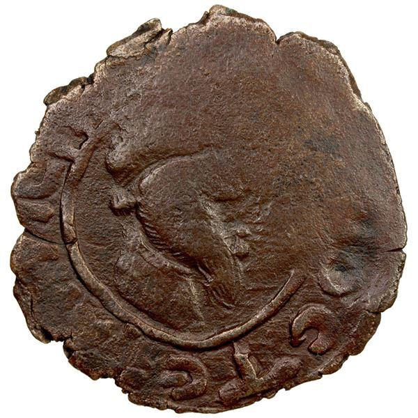 DANISHMENDID: Dhu'l-Qarnayn, 1152-1162, AE dirham (5.76g), NM, ND. VF