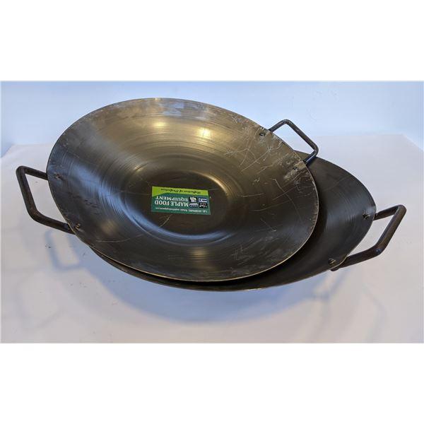 Chinese wok/ Indian Karhai 17in - iron (brand new)