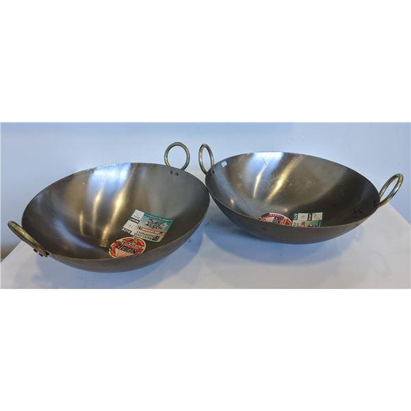 Chinese wok/ Indian Karhai 16in - white iron (brand new)