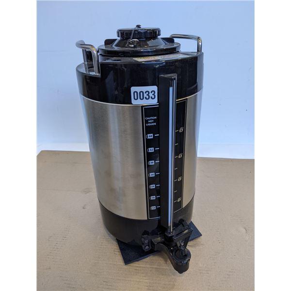 New zojirushi model sjc-80 2 gallon coffee urn stainless and black
