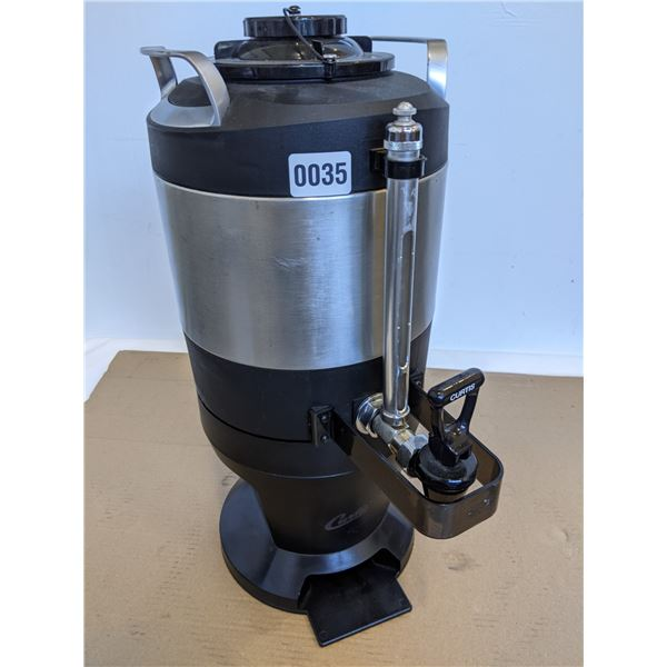Curtis 1.0 Gal. Insulated Dispenser with Black Sight Glass and Wide Mouth Lid with Stand