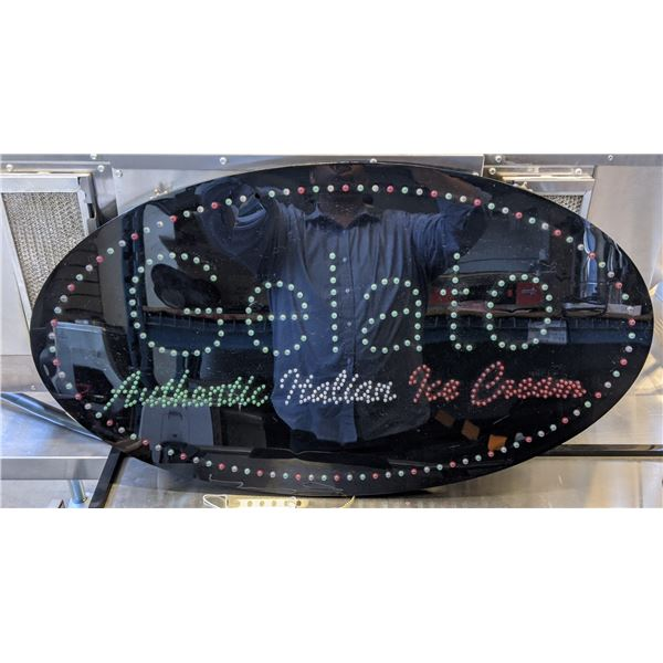 """""""Gelato"""" light up store sign - (approx. 35"""" x 20"""") (small crack, missing power cable)"""