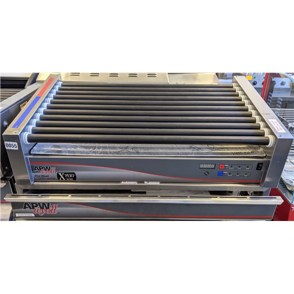 Brand New APWwyott Xpert Series 11 Hot-Dog Roller w/Digital Display and APWwyott Utility Thermo Draw