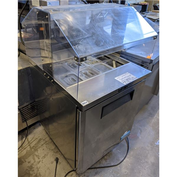 """M3 TurboAir with Sneeze Guard (Hot Dog Topping Cooler) - (Approx. 28"""" x 30"""" x 57"""")"""
