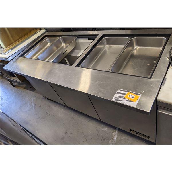 "True Refrigerator 72"" Salad & Sandwich Prep. Refigeration Table - Model no. TSSU-72-30M-B-ST - (Appr"