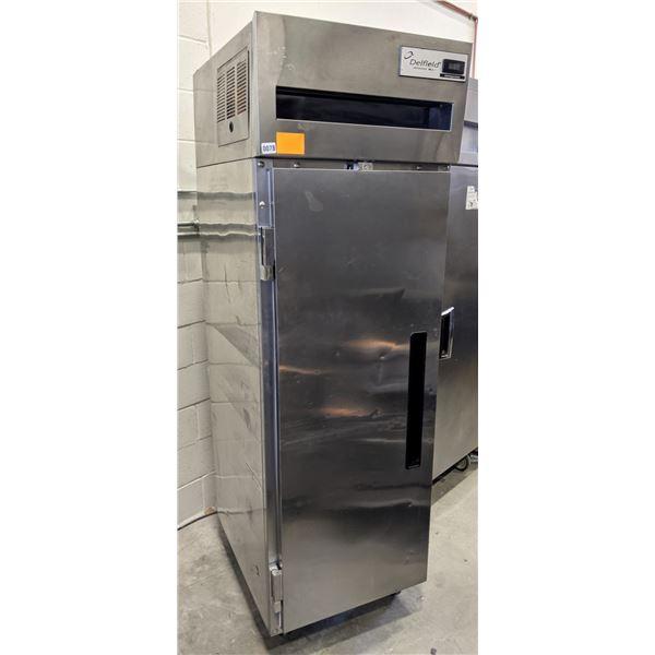 "Single Solid Door Top Mount Reach-In Refrigerator by Delfield - Model no. 6025-S4 - (Approx. 32"" x 2"
