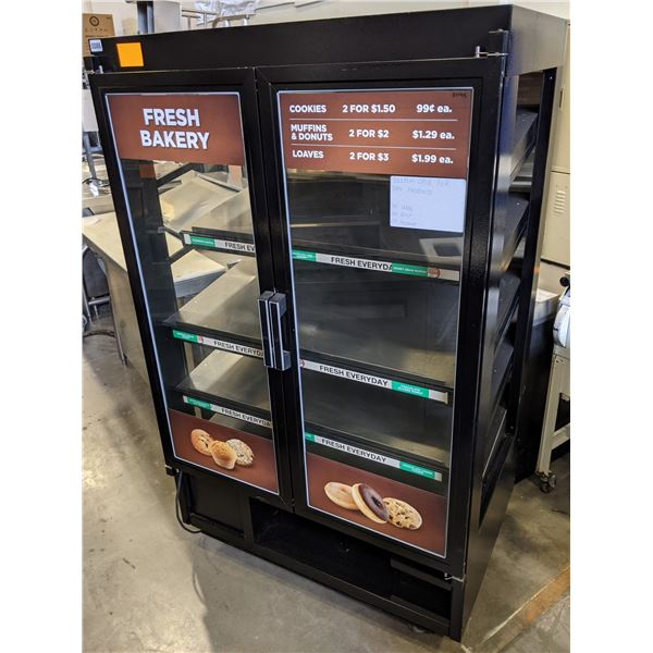 """Double Glass Door Display case for dry products w/casters - Model. BC-39-5 - (Approx. 29"""" x 40"""" x 67"""