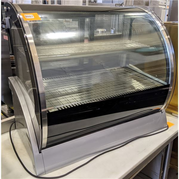 """Brand New Heated Curved Countertop Display Cases by Vollrath - Model no. HDE8136 - (Approx. 21"""" x 33"""