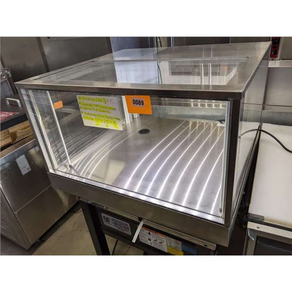 """Stainless Steel Counter Top Display w/LED lights - (Approx. 28"""" x 30"""" x 18"""")"""