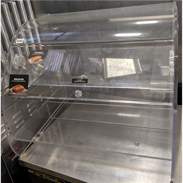 """29"""" Curved Countertop Display case for Dry products - (Approx. 23"""" x 29"""" x 24"""")"""