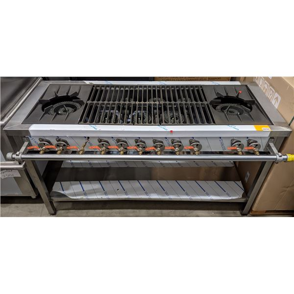 """Brand New 8 Burner Propane Stove by S.K.C.- (Approx. 29"""" x 59"""" x 31"""")"""