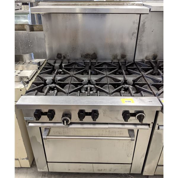 """6 Burner w/standard oven by SunFire (Natural Gas) - (Approx. 34"""" x 36"""" x 58"""")"""