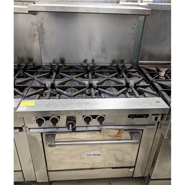 """6 Burner w/Convection oven by US Range (Natural Gas) - (Approx. 34"""" x 36' x 58"""")"""