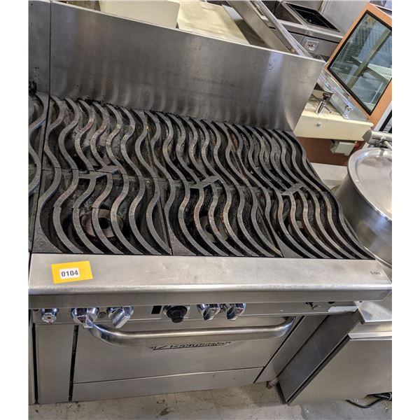 """6 Burner w/standard oven & casters by SouthBend (Natural gas) - (Approx. 34"""" x 36"""" x 51"""")"""