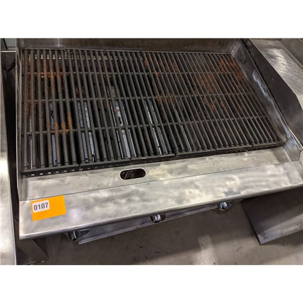 """3-Burner Char-Boil Grill by Cookrite (Natural Gas) - (Approx. 28"""" x 36"""" x 10"""")"""