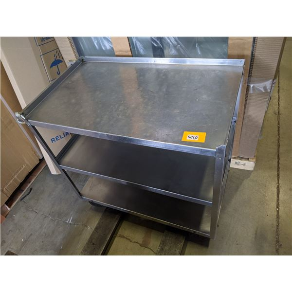 "3 Tier Metal Rolling Cart w/casters - (Approx. 21"" x 38"" x 35"")"