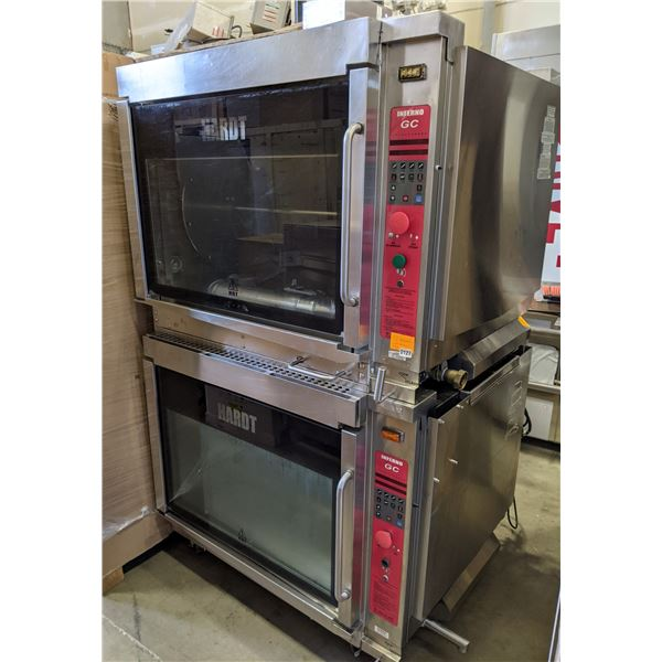 Double HARDT Inferno GC Gas Rotisserie Oven w/casters - Model no. Inferno GC 120VAC, 60HZ, 1 Phase,
