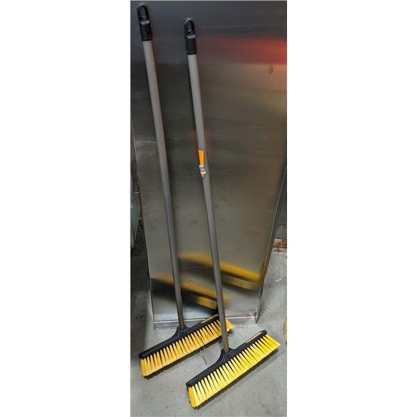 Group of 2 new EZ CLEAN Push Broom