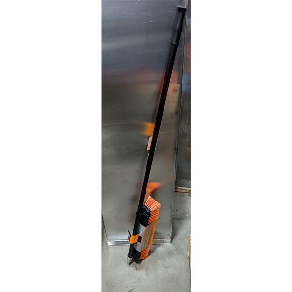 "Group of 2 new EZ CLEAN PRO 18"" Heavy Duty Push Broom"