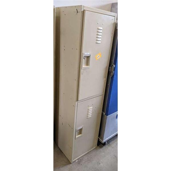 """Double tier 2 door steel locker - (Approx. 18""""x 18.5"""" x 72"""")"""