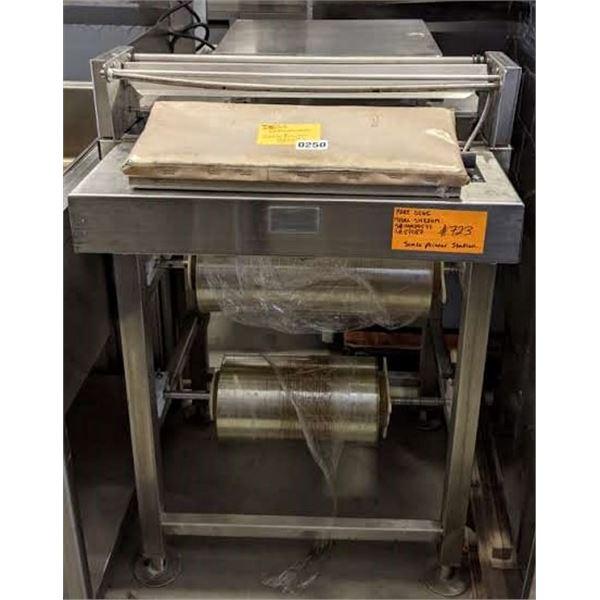 "ShrinkWrap Scale Printing Station by Digi - Model no. SM720M - (Approx. 28"" x 24"" x 53"""