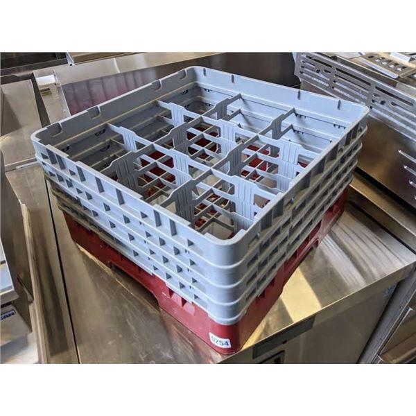 """7 Red & Gray Dish Washing Racks (19.5"""" x 19.5"""" x 10.5"""")"""