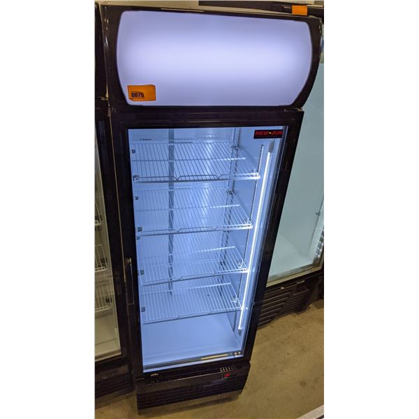 Brand New Single Glass Door Merchandiser (Refigerator) by New Air - Model no. NGR-036-H - (Approx. 2