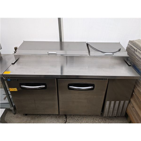 2 Door Pizza Prep Table Refrigerator w/casters by Master-Bilt Fusion Series - Model: PT67 - (Approx.