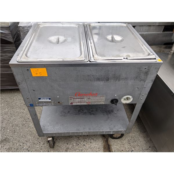 2 Wells Steam Table w/casters by AeroHot - Model: E502 - Retails Over $1000