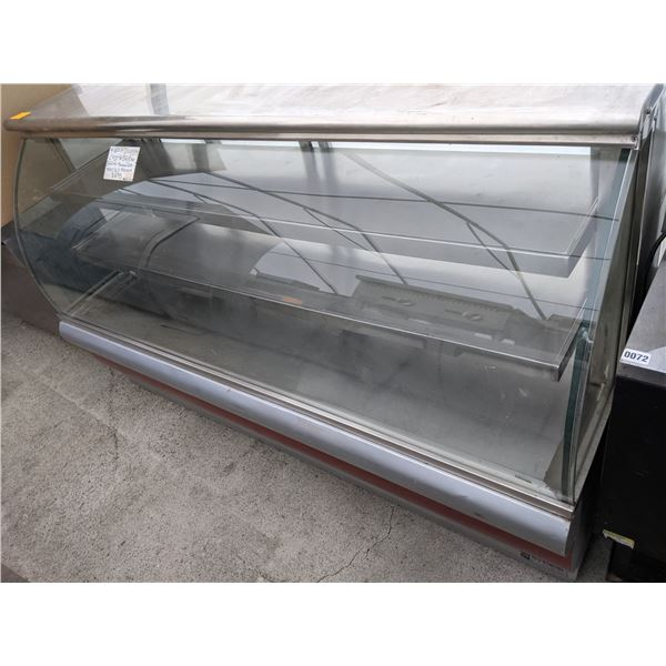 """80"""" Curved Glass Dry Display Case w/casters"""