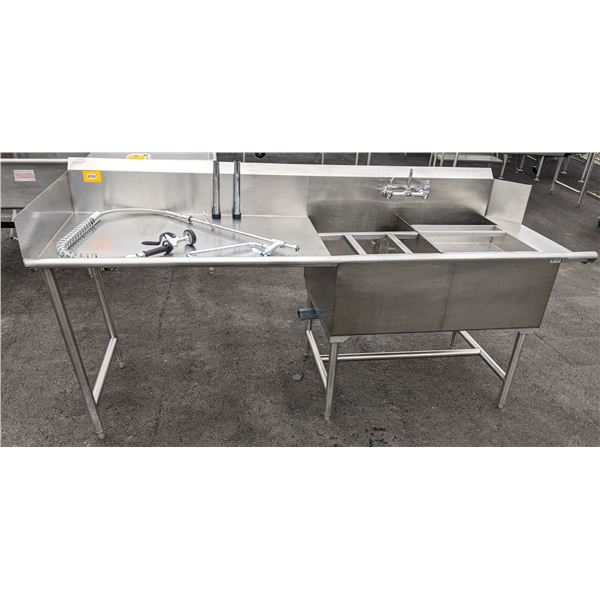 """91"""" Heavy Duty Commercial Dish washing Station by Quest Vancouver - NSF/CSA approved - (Approx. 31"""""""