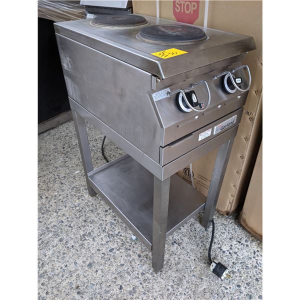 Two Solid Burner Electric Countertop Hot Plate w/steel stand by Garland - Model: ED-15THSE