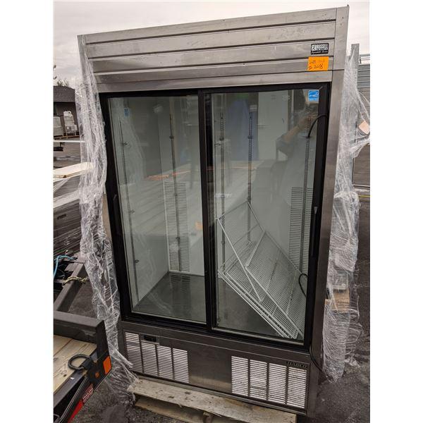 Habco SE42SXG Double Sliding Glass Door Merchandiser (As is - not tested)