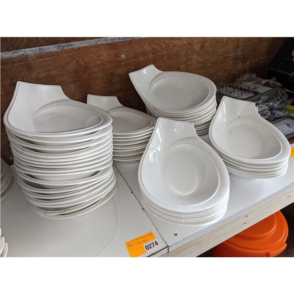 A Set of 48 white serving dishes - All same sizes