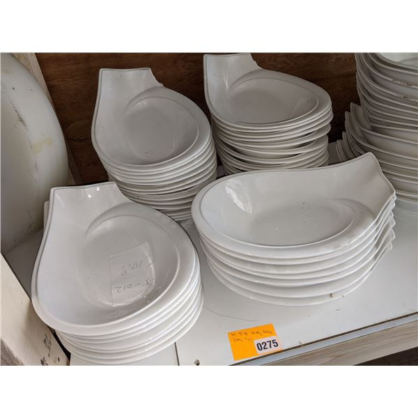 A Set of 41 white serving dishes - All same sizes