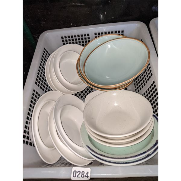 A box lot of misc. bowls and plates
