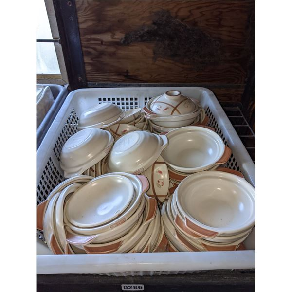 A box lot of Japanese food pot w/lid