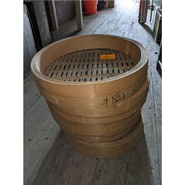 8 Tier Dim Sum Bamboo Steamers