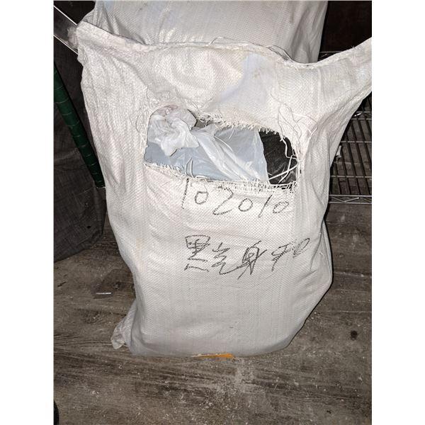 Jute bag full of Garbage bags