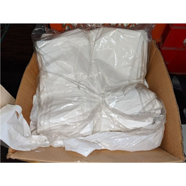 Box lot of white small bags - Perfect sizes for takeout