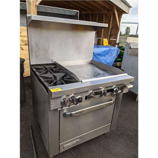 """36"""" 2 Burner Gas Range w/ Griddle & Standard Oven, Natural Gas by Southbend - Model: S36D-2GR"""