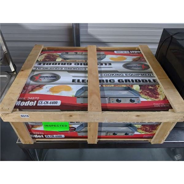 29-Inch Stainless Steel Griddle w/smooth surface - Model: CE-CN-4400