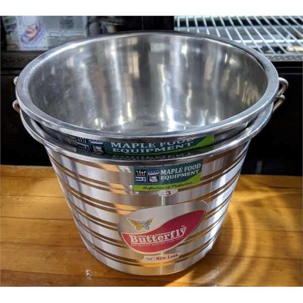 2 Metal Food Grade Buckets