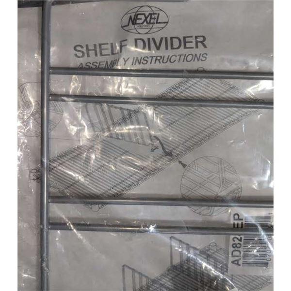 A Set of 10 Metal Shelf Divider