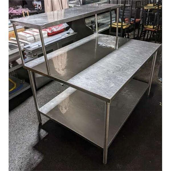 Stainless steel 2 tier prep table