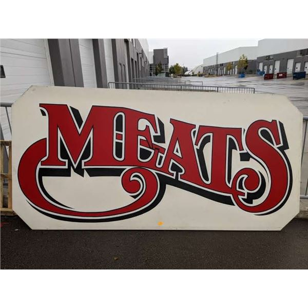 """10ft x 58in """"MEATS"""" advertisement sign"""