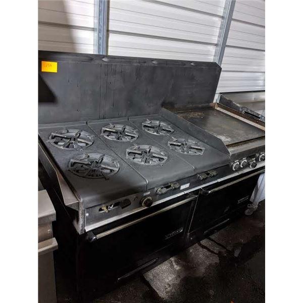 6 burner stove w/ griddle/ & standard oven