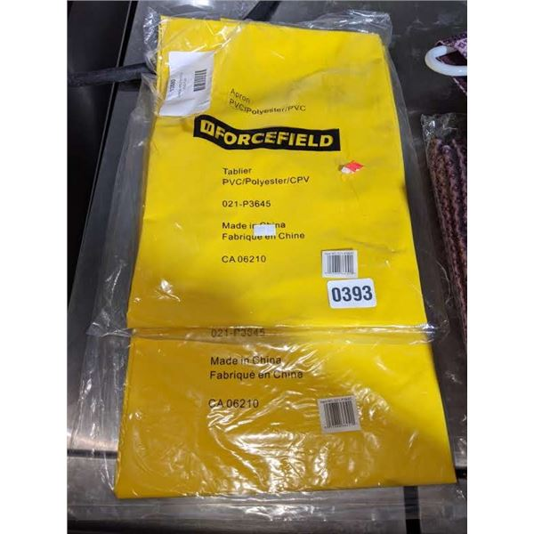 Group of 2 *NEW* Forcefield aprons - yellow